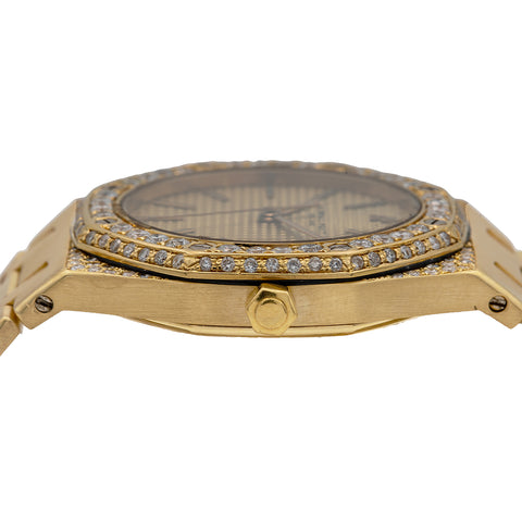 Audemars Piguet Royal Oak 4100 30MM Champagne Dial With Yellow Gold Bracelet
