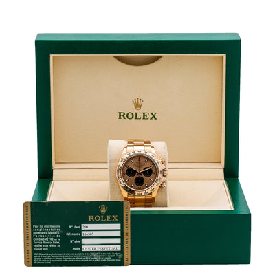 Rolex Daytona 116505 40MM Champagne Chronograph Dial With Rose Gold Oyster Bracelet