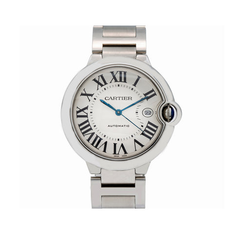 Cartier Ballon Bleu 42MM W69012Z4 White Dial With Stainless Steel Bracelet