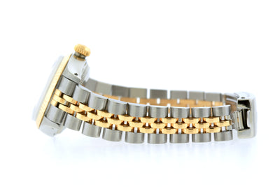 Rolex Datejust 26mm Yellow Gold and Stainless Steel Bracelet White Dial