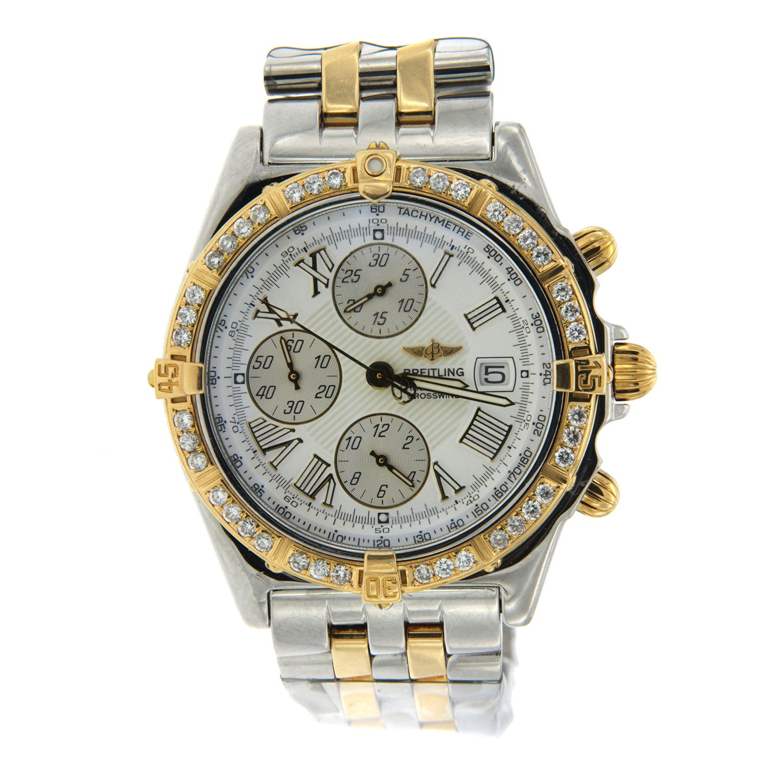 Breitling Crosswind Two Tone Diamond Watch