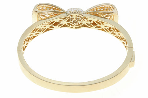 Diamond Bow Design Bangle