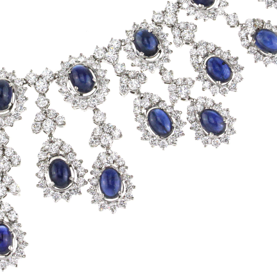 Ladies Fancy Diamond and Sapphire Necklace