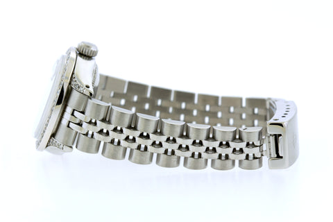 Rolex Datejust 26mm Stainless Steel Bracelet Thistle Dial w/ Diamond Bezel and Lugs