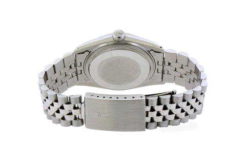 Rolex Datejust Diamond Watch, 36mm, Stainless Steel Mother of Pearl Dial w/ Diamond Bezel and Lugs