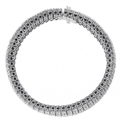 Diamond Bracelet with Five Row Diamonds