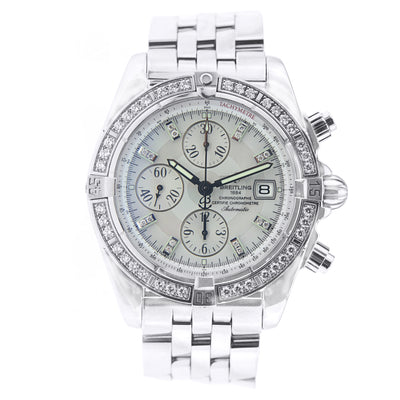 Men's Breitling Chronomat Evolution with Diamonds