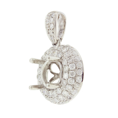 Diamond Semi Mount Pendant