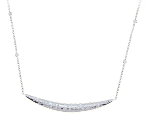 Diamond by the Yard Chain with Diamond Pendant