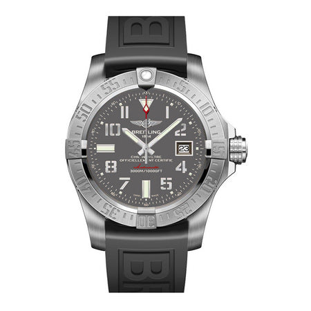 Breitling Avenger II Seawolf 45MM A1733110/F563 Stainless Steel with Rubber Band