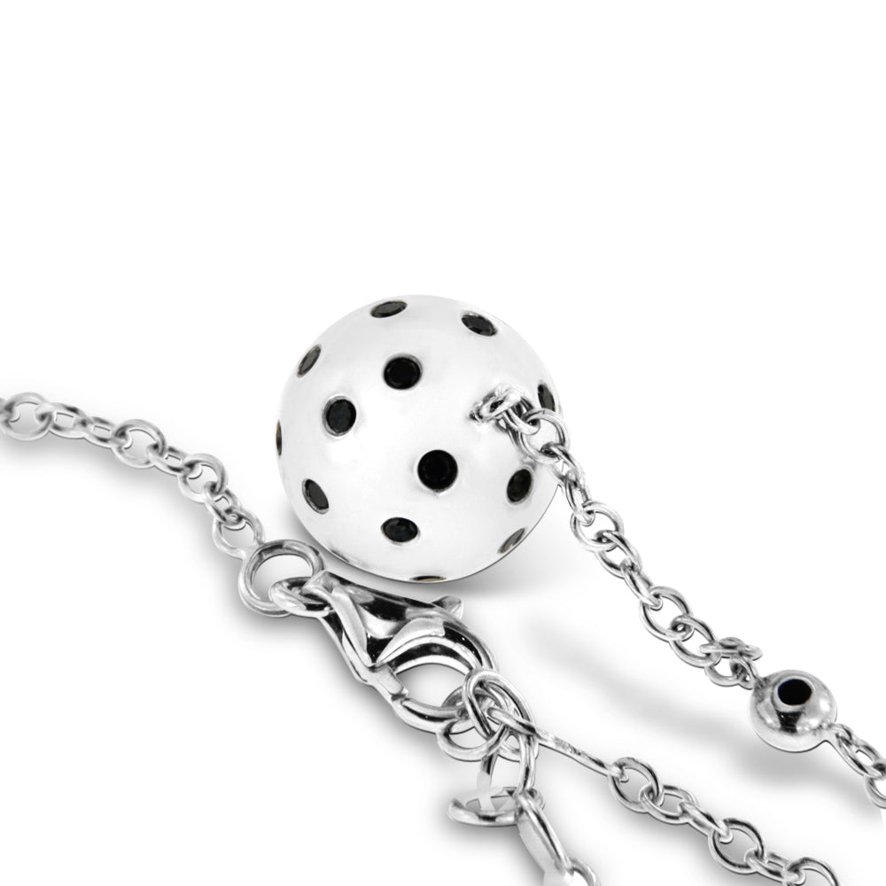 White Gold Necklace with Black Diamonds