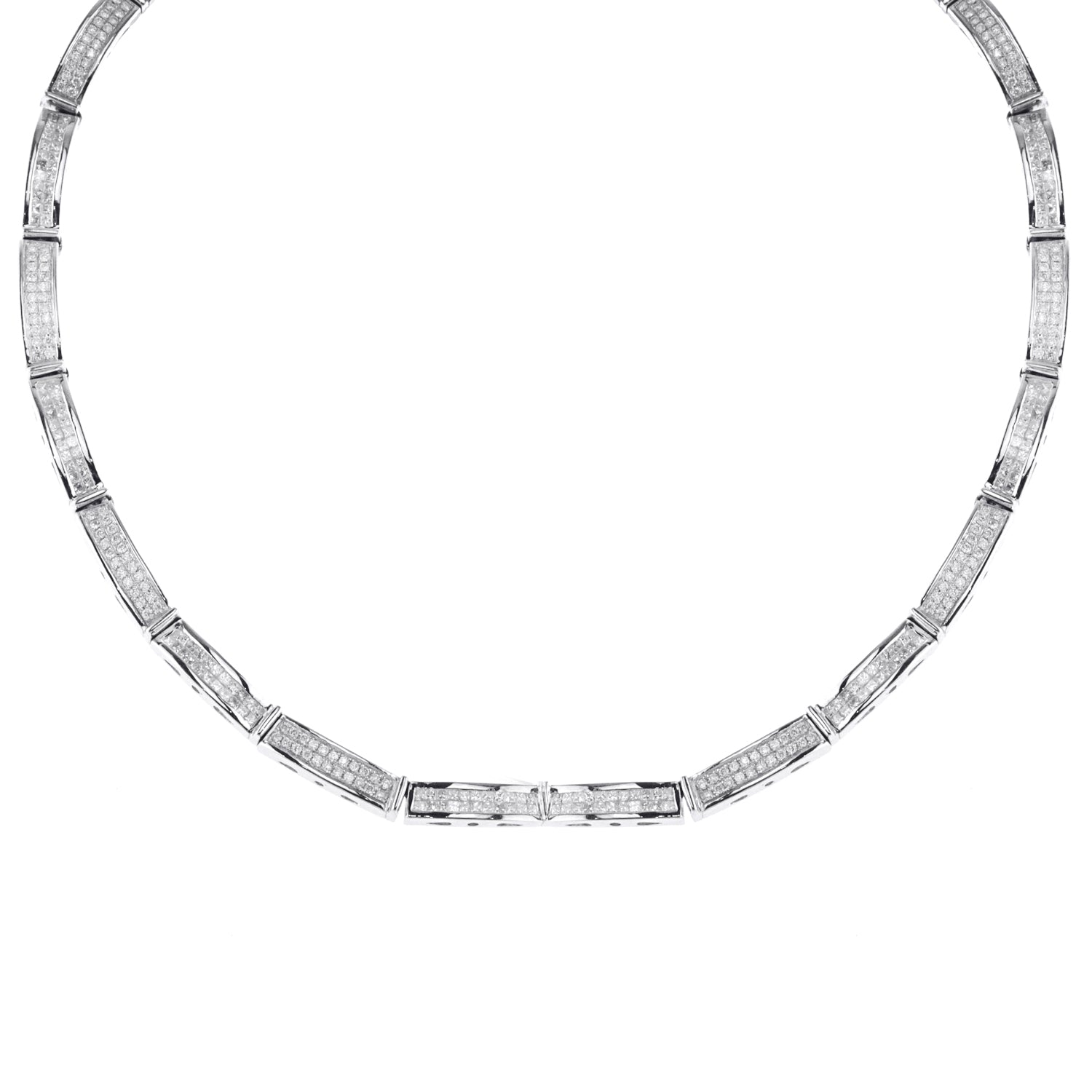 Ladies Princess Cut Diamond Necklace