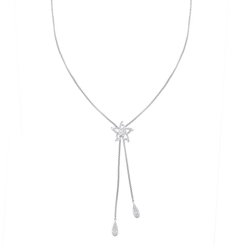 18K White Gold Chain with Diamond Star 1.55CT