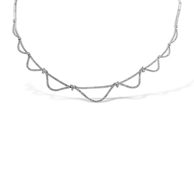 White Gold Necklace with White Diamonds