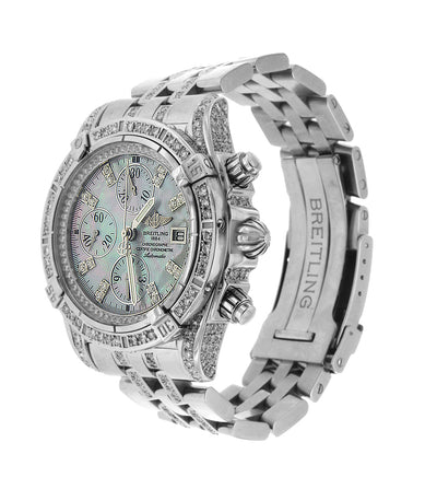Diamond Breitling Crosswind with Mother of Pearl Dial