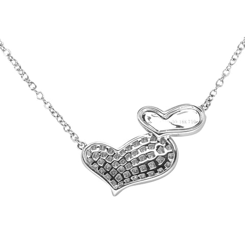Double Heart Diamond Pendant with Chain