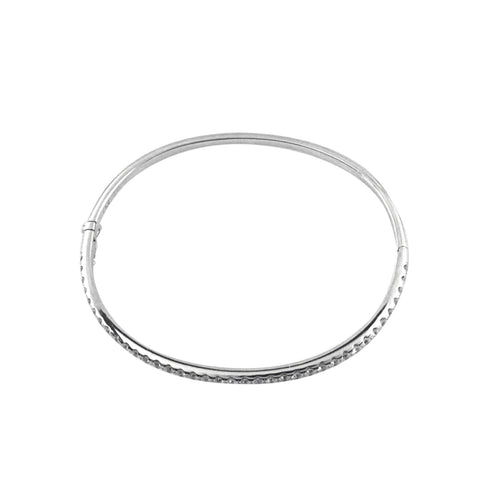 18K White Gold Eernity Bangle with 1.46CT Of Round Diamonds