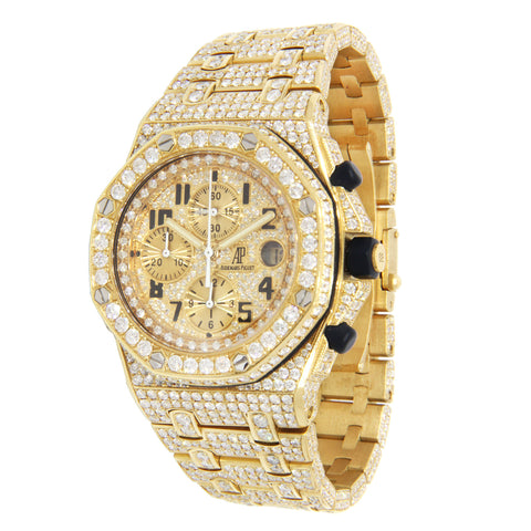 Audemars Piguet Royal Oak Offshore Yellow Gold Covered in Diamonds 42mm