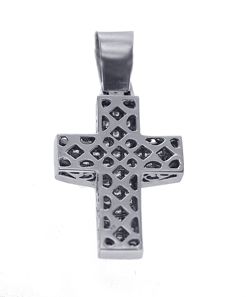 Unisex Princess Cut Diamond Cross