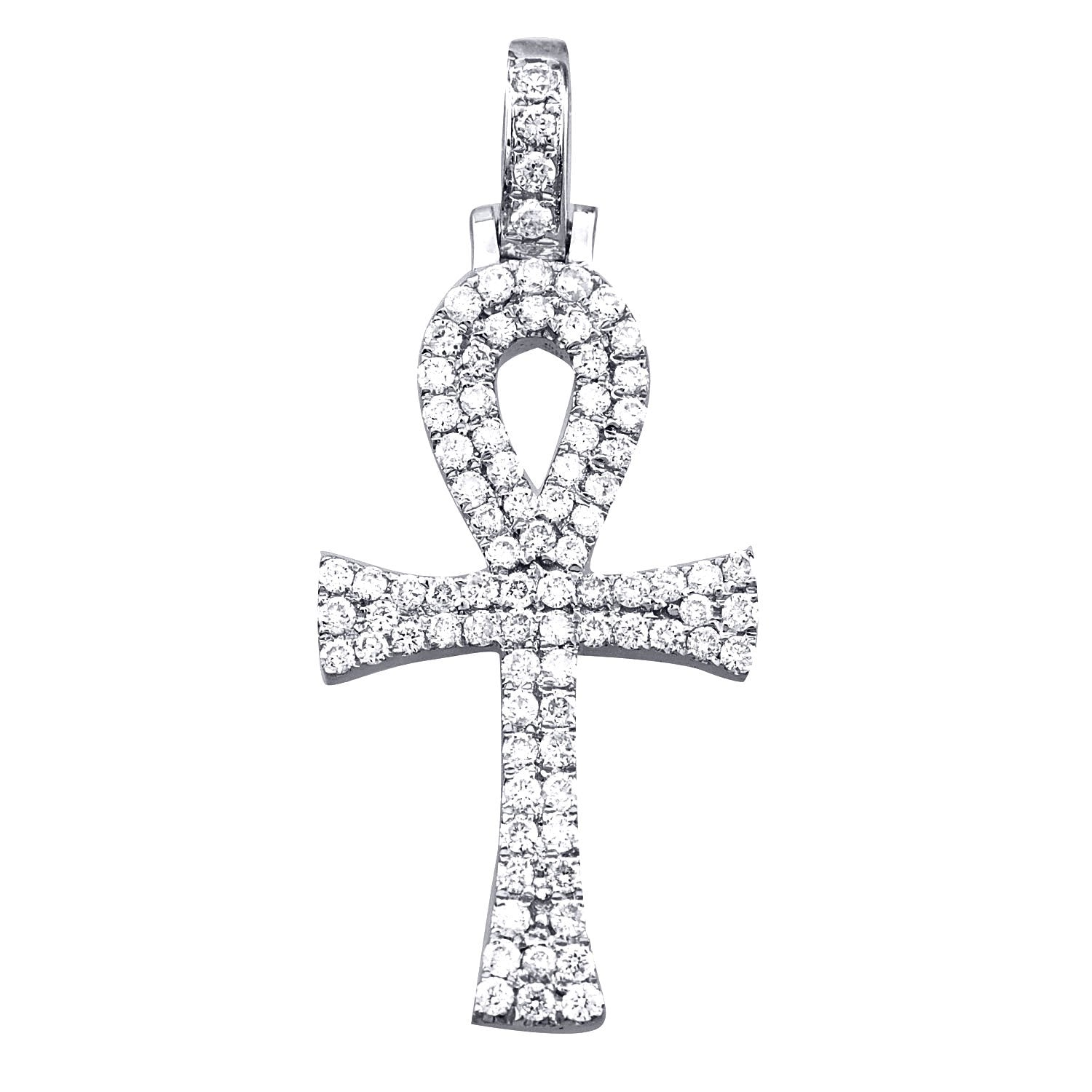White Gold Diamond Ankh Pendant