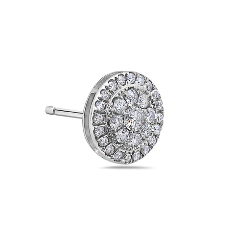 14K White Gold Ladies Earrings With 1.07 CT Diamonds