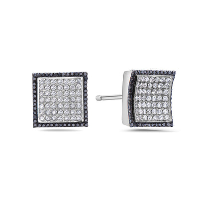 14K White Gold Ladies Earrings With 2.20 CT Diamonds