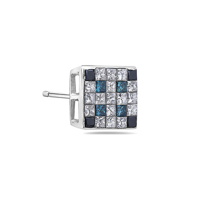 14K White Gold Ladies Earrings With 1.52 CT Diamonds