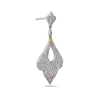 18K White Gold Ladies Earrings With 7.01 CT Diamonds