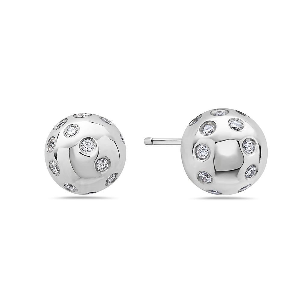 18K White Gold Ladies Earrings With 0.54 CT Diamonds