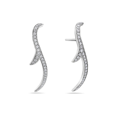 18K White Gold Ladies Earrings With 0.53 CT Diamonds
