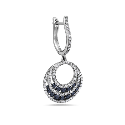 14K White Gold Ladies Earrings With 1.96 CT Diamonds