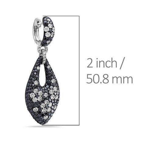 18K White Gold Ladies Earrings With White: 2.86 CTW Diamonds