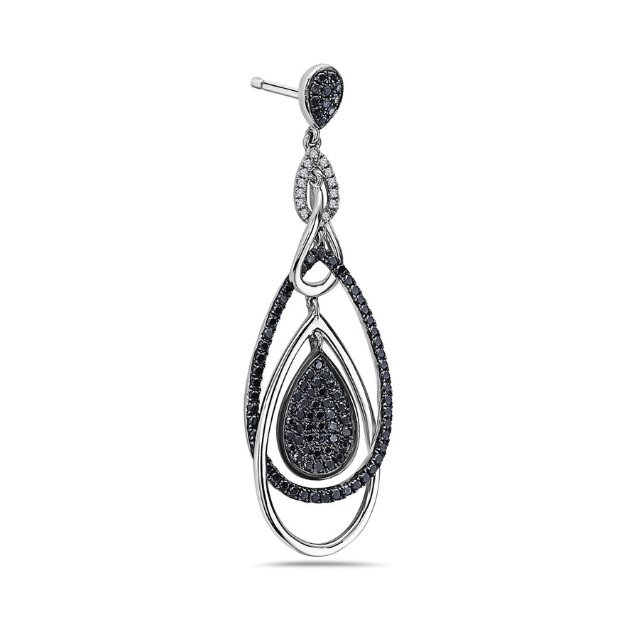 18K White Gold Ladies Earrings With White: 2.15 CTW Diamonds