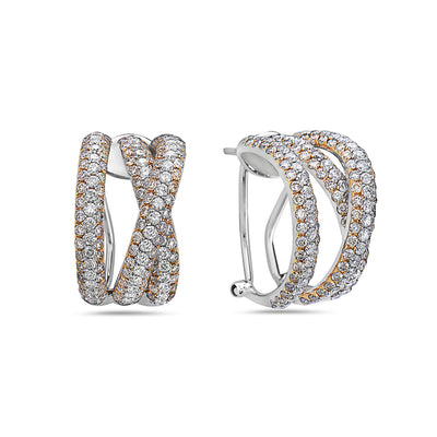 18K White Gold Ladies Earrings With 4.67 CT Diamonds