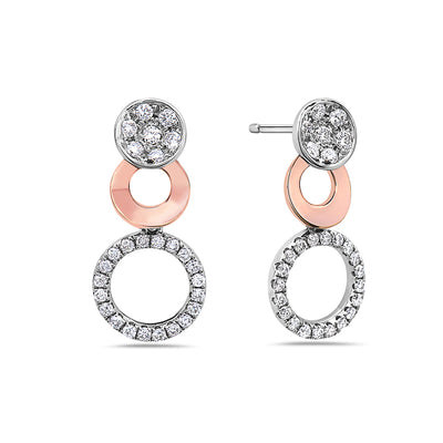 18K White Gold Ladies Earrings With 0.52 CT Diamonds
