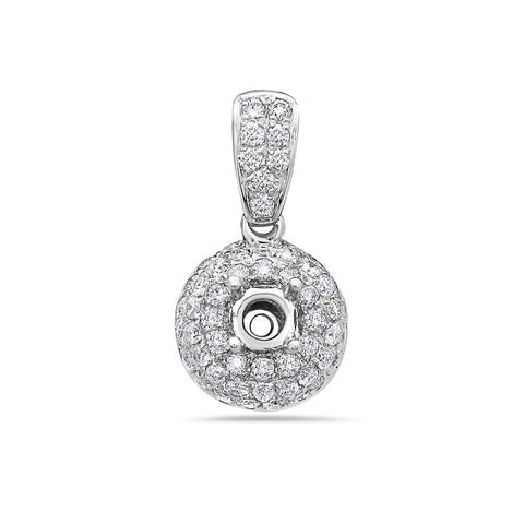 18K White Gold Women's Pendant With 0.72 CT Diamonds
