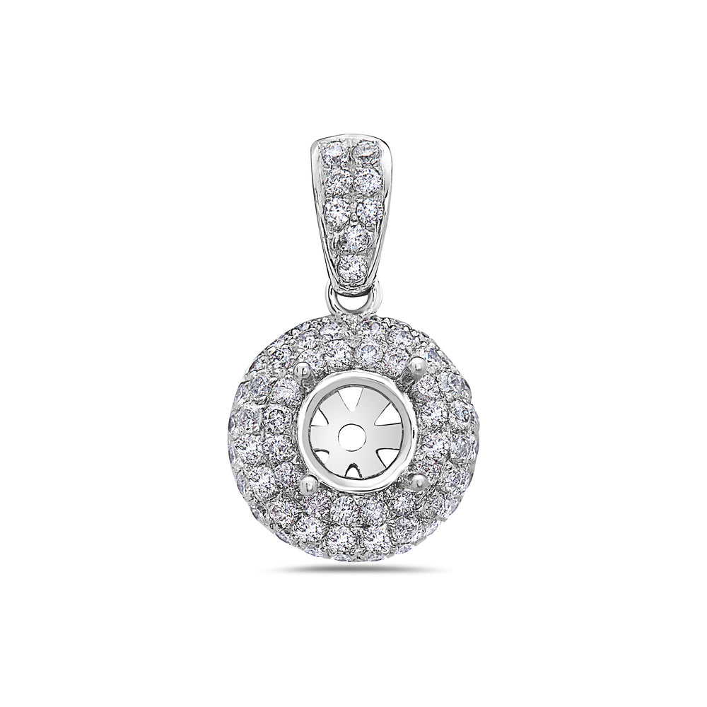18K White Gold Asterisk Women's Pendant With 0.98 CT Diamonds
