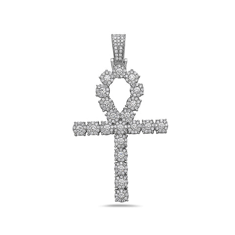 Unisex 14K White Gold Pendant with 4.05 CT Diamonds