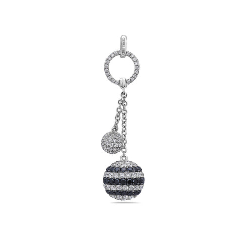 18K White Gold Floating Diamond Disks Women's Pendant with 3.26CT Diamonds
