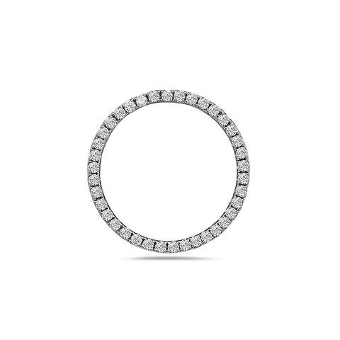 18K White Gold Donut Line Women's Pendant with 0.43CT Diamonds