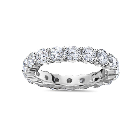Men's 14K White Gold Band with 5.44 CT Diamonds