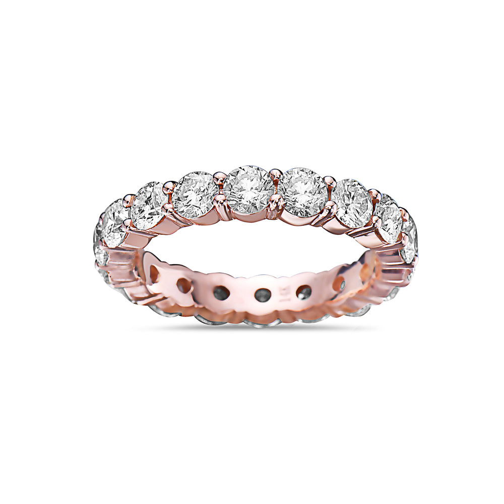 Men's 14K Rose Gold Band with 5.44 CT Diamonds