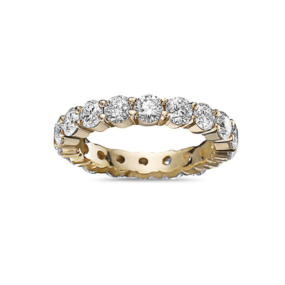 Men's 14K Yellow Gold Band with 5.44 CT Diamonds