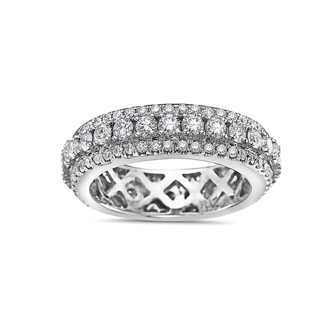 Men's 14K White Gold Band with 5.50 CT Diamonds