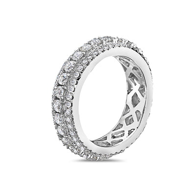 Men's 14K White Gold Band with 3.25 CT Diamonds