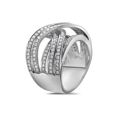Ladies 18k White Gold With 1.55 CT Right Hand Ring