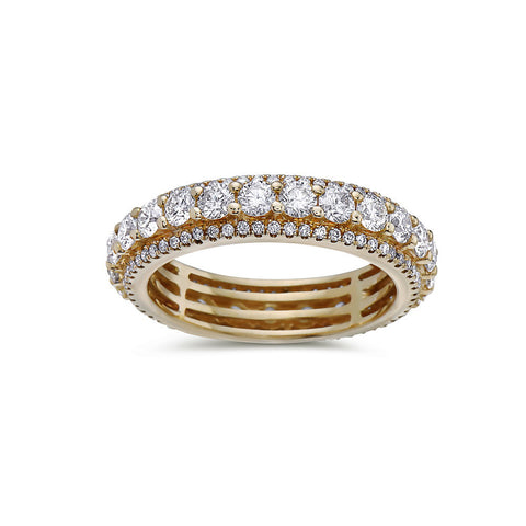 Ladies 14k Yellow Gold With 1.25 CT Wedding Band