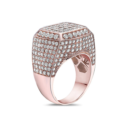 Men's 14K Rose Gold Ring with 5.00 CT Diamonds