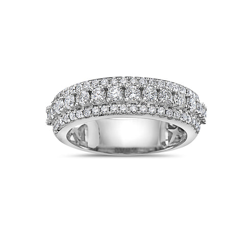 Men's 14K White Gold Band with 1.62 CT Diamonds