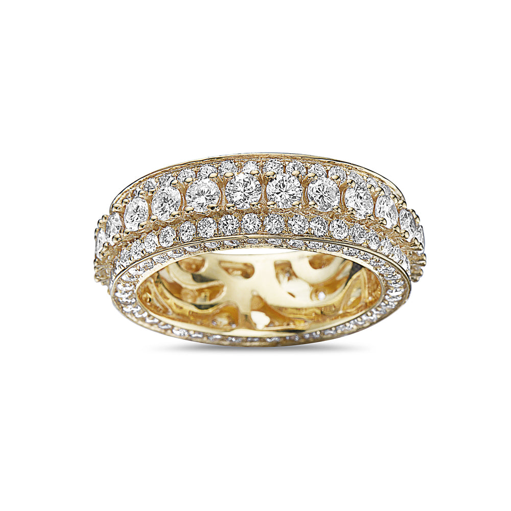 Men's 14K Yellow Gold Band with 5.74 CT Diamonds
